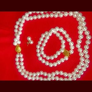 Brand new 3in1 South sea 10mm shell pearls set